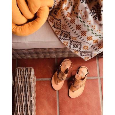 Sandalia de dedo - cuero