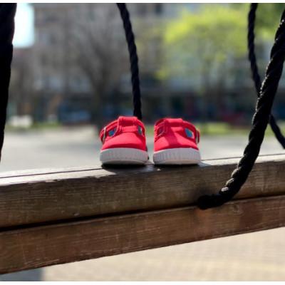 Sandalia rojo