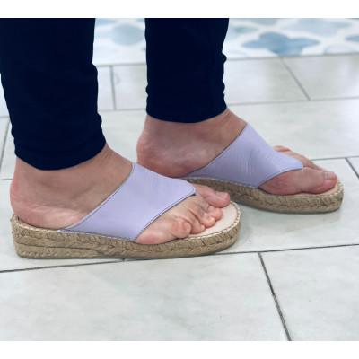 Sandalia dedo - esparto - lila