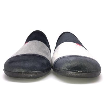 Zapatillas de casa descalza...